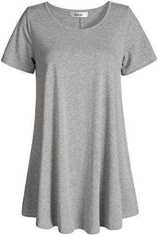 Esenchel Women's Tunic Top Casual T Shirt...