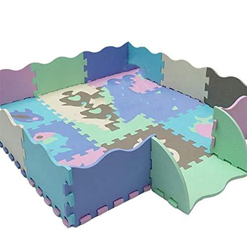 WNN-URG Puzzle Mat Gym Floor Mats Baby Play Mat Floor Azulejos 9 Piezas Espuma Play Mat de Rompecabezas, Play de Enclavamiento para bebés URG (Color : A)