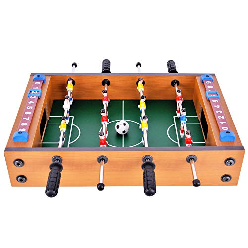 Mini Football Table Top Foosball Set for Kids Children Soccer Game MDF Construction Board