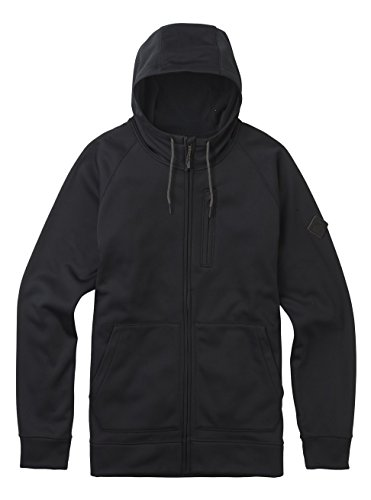 Burton Crown Bonded Full Zip Hoodie – Sudadera con Capucha, Hombre, Crown Bonded Full-Zip Hoodie, True Black, Large