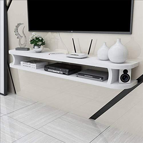LZZ Estante Flotante para DVD, estantería Flotante para componentes de TV, Pared, Estante de Soporte de TV, Caja de TV, Caja de Cable, Caja de Juego, 100x22x15cm (Color : Blanco)