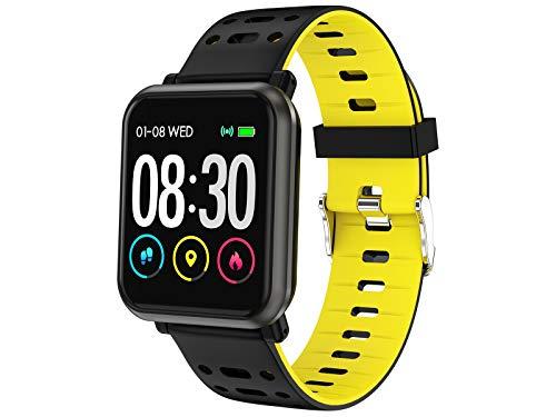 Trevi T-FIT 210 HB Smart Fitness Band Bracciale Cardio, Monitoraggio Sonno e Attività Fisica, Tecnologia PPG, Resistente All'Acqua IP67, Bluetooth, Batteria Ricaricabile, Giallo