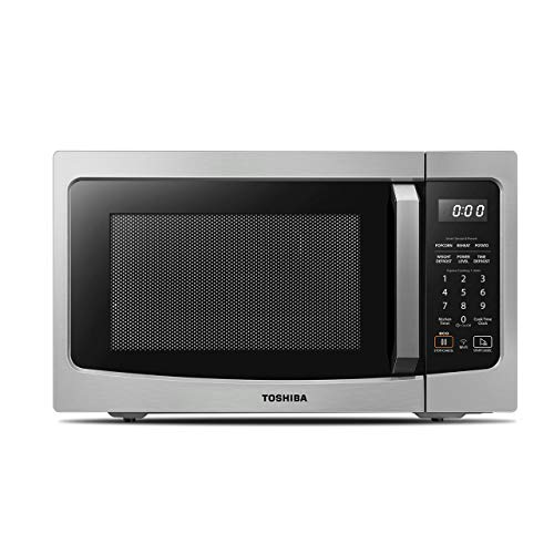 Toshiba ML-EM34P(SS) Smart Countertop Microwave Oven Works with Alexa, Humidity Sensor and Sound On/Off Function, 1100W, 1.3 Cu.ft, Stainless Steel (Renewed)