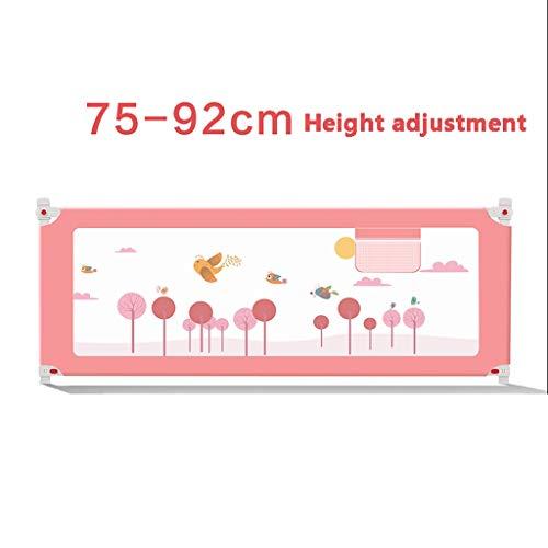 Bettwächter Doppelbett, Tragbarer Und Stabiler Bettwächter, Sicherheitszaun Für Das Bett (Color : Pink, Size : 2m)