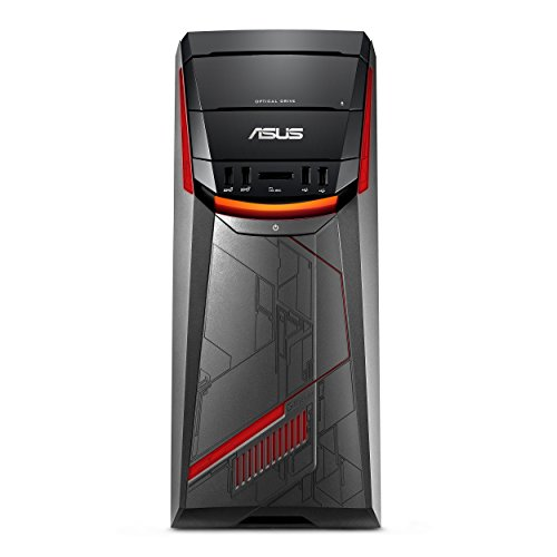 ASUS G11DF-DBR5-GTX1060 Desktop PC, AMD Ryzen 5 Processor, GTX 1060 6GB, 8GB RAM, 256GB SSD + 1TB HDD, USB-C, DVD-RW, 802.11ac, Win 10