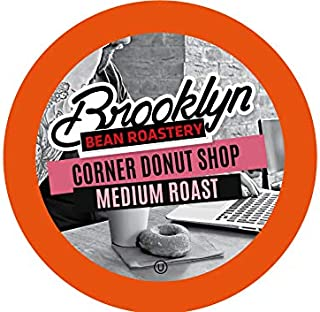 Brooklyn Beans Corner Donut Shop Coffee Pods, Compatible with 2.0 K-Cup Brewers, 40 Count