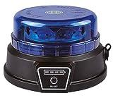Rotativo LED 18W Azul con Batería recargable litio Homologado Carretera R65, Rotativo Azul Vehículos prioritarios, Policía, Ambulancias, Recargable autónomo Li-ion