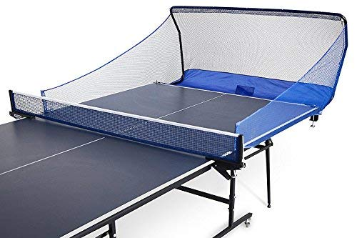 Table Tennis Ball Catch Net - Portable Ping Pong Return Board - Serve and One Player Training Practice Set - Compatible with iPong Robot Trainer Equipment