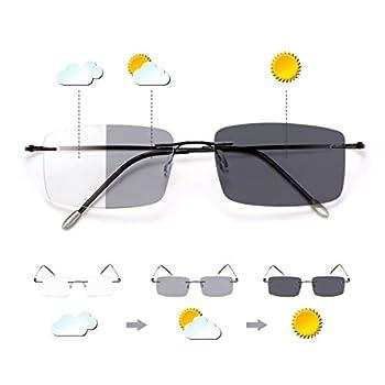 Photochromic Progressive Multifocal Computer Reading Glasses Anti UV Sun Readers