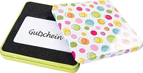 KHI Gutscheindose Geschenkdose Dose, Verpackung für Gutscheine u. Geschenkkarte Metalldose Birthday