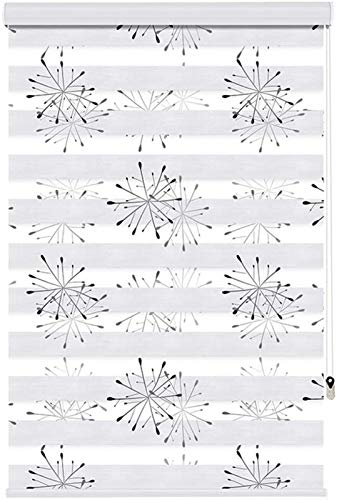 Pleated Paper Shade Day and Night Zebra Roller Blind Double Roller Blinds Breathable Fabric Provide Privacy For Living Room Nursery Kitchen Customizable Easy To Install Blinds for Windows