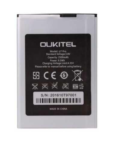 Todobarato24h Bateria OUKITEL U7 Pro/G6 Plus (1ICP4/62/91) 2500mAh Li-Ion
