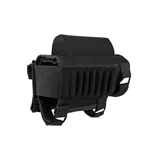 AIRSSON Tactical Rifle Cheek Rest Holder with 2 Molle Pouch