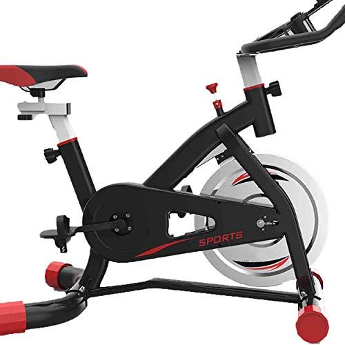 WERFFT Indoor Cycling Bike Haushalt Fitnessgeräte Fitness-Bike und Bauchtrainer, Sportgeräte, Ideal Cardio Trainer (Zwei Farben),Schwarz