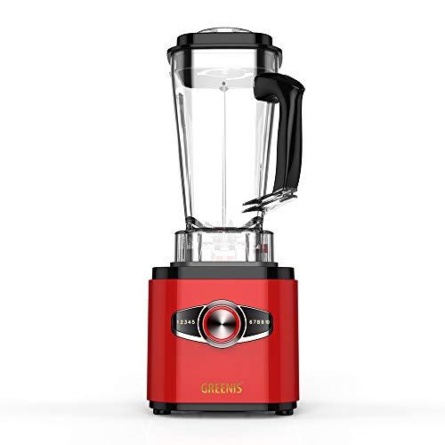 Robot mezclador licuadora multifuncional: Licuadora Potente GreenisFGR-8830 de 2.500vatios con recipiente de vidrio de 2 litros para batidos, sopas y jugos de frutas