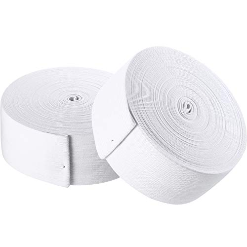 White Knit Elastic Spool for DIY Projects (2 Inch x 22 Yard)