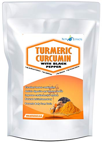 NutriExtracts Turmeric Capsules with Black Pepper 180 Pills High Strength 600mg...