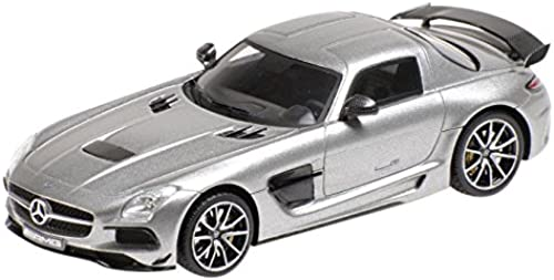 1 43 Minichamps MB Mercedes-Benz SLS AMG schwarz Series graumetallic 2013
