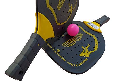 Juego de Palas impermeables y pelota para jugar al clásico juego de palas.