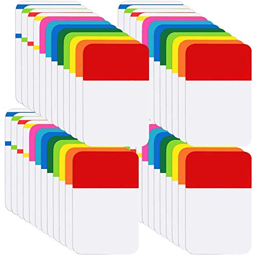 KIMCOME File Index Tabs 1 Inch Sticky Flags 960 Pcs, Colored Page Markers Self Adhesive, Repositionable Note Tabs for Documents, Books, Paper, Notebooks, Filing and Folders [24 Sets, 10 Colors]