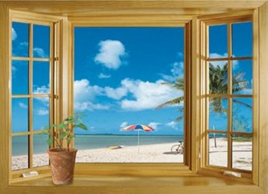 裏切り暗唱する眩惑する壁が窓に早変わり! 賃貸部屋OK! 常夏 ビーチ ウォールステッカー ウォールペーパー シール 模様替え 剥がせる ヨーロッパ  風景 景色 海 お洒落 で 可愛い 大きい サイズ プレゼント
