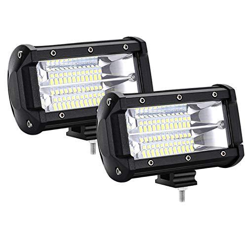 HENGMEI LED Arbeitsscheinwerfer 72W LED Offroad Zusatzscheinwerfer 12V 24V Auto Scheinwerfer Arbeitslicht IP67 Wasserdicht für SUV, UTV, ATV, LKW (2 x 72W)