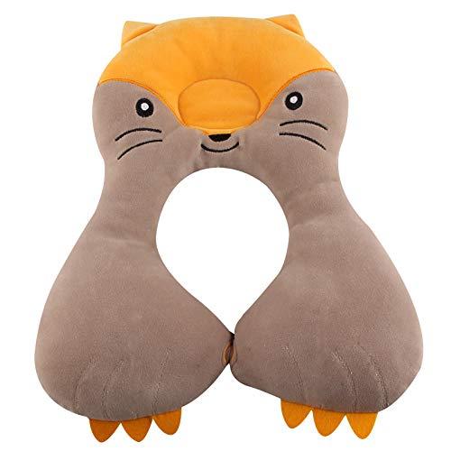 Decdeal U-Form Baby Nackenkissen Kopf und Nackenstütze für Kinder im Alter von 1-6 Jahre (Fuchs)