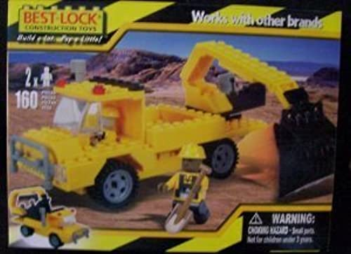 160 Piece with Two Figures Excavator 2010 by Best-Lock Construction Toys