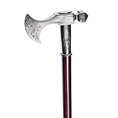 Practical and Elegant: This Elegant Bavarian walking stick boasts a solid pewter handle and a rich, dark hardwood shaft, it is also fitted with a practical pewter collar and spiked-tip ferrule for digging into soft or soggy ground distinct Accessory:...