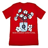 Southern Couture Classic Collection Cotton Bud Mason Jar Short Sleeve Womens Classic Fit T-Shirt; Red, Medium