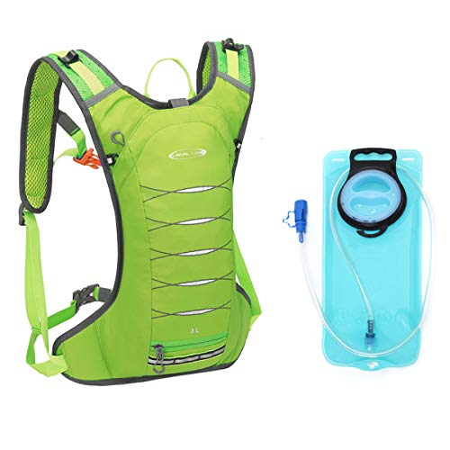 Local Lion 3L Mochila Ligera de Hidratación Pequeña para Ciclismo y Trail Running Impermeable y Transpirable con Vejiga de Agua 2L