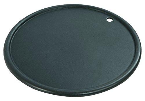 RÖSLE Grillplatte Vario, Gusseisen matt emailliert, schwarz, 30,5 x 30,5 x 1,3 cm, 2,6 kg, beidseitig verwendbar, glatte und geriffelte Seite