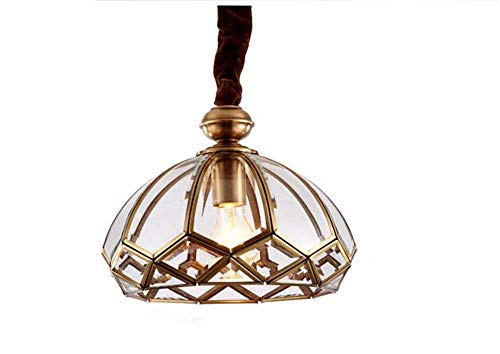 on. Gzz Deng Home buitenverlichting hanglamp kroonluchter plafondlamp schaduw Europese stijl koper wit licht 30x25cm