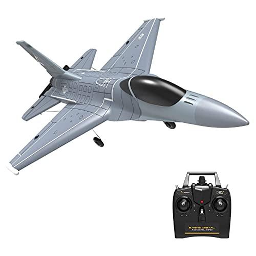 F Fityle Avión RC, 2.4G Control Remoto Avión de 4 Canales, Planeador de Combate RC Avión de ala Fija Modelo RTF Juguetes para niños Niños Principiantes Adultos