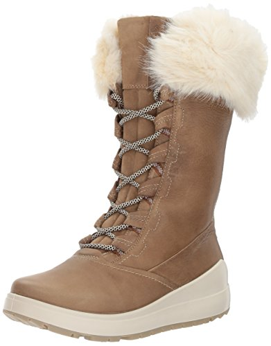 ECCO Women's Noyce Tall Snow Boot, Navajo Brown/Navajo Brown, 40 EU / 9-9.5 US