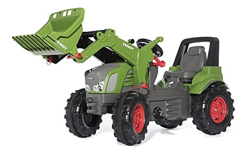 Rolly Toys Trettraktor rollyFarmtrac Premium Fendt Vario 939 mit Frontlader rollyTrac Lader (Tretfahrzeug für Kinder ab 3 Jahre, mit Flüsterlaufreifen) 710263, grün/grau