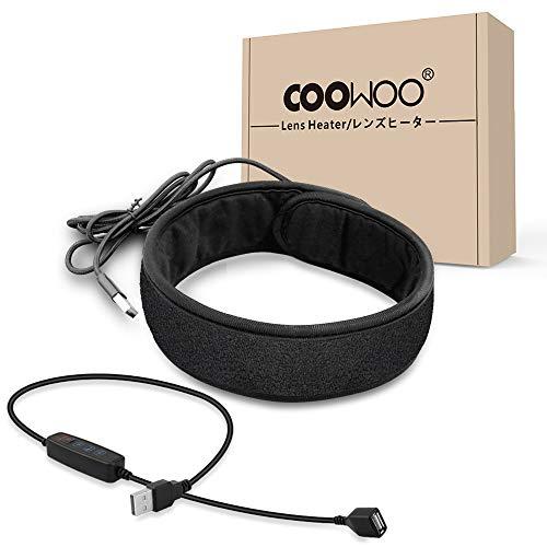 【改良バージョン】COOWOO 結露 防止 レンズ ヒーター 夜露 除去 USB ウォーマー 3段階調節 温度コントロー...
