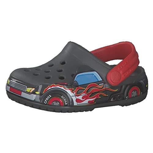 Crocs unisex child Kids' Fun Lab | Slip on Shoes for Kids Clog, Truck, 4 Toddler US