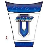 WhaleZ オートバイアクセサリータンクパッドステッカーフィッシュボーン3Dタンクパッドステッカーオイルガスプロテクターカバー装飾 For SUZUKI GSX1400の場合 (C)