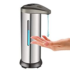 Hands-free Sensor soap dispenser: Touchless soap dispenser equipped with infrared sensor. When the sensor detects your hand, When the automatic soap dispenser will automatically release hand sanitizer,it will make sound of it ,The sensing distance is...