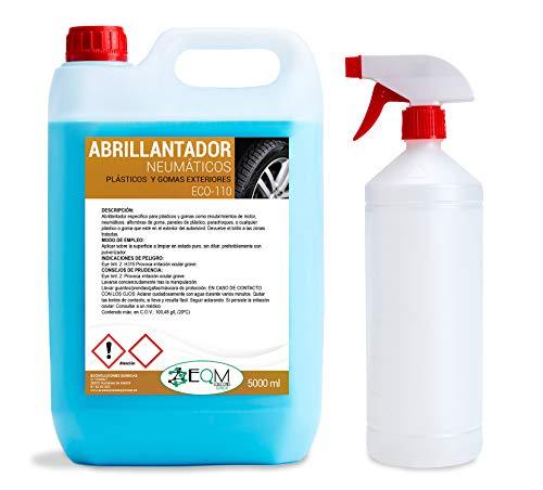 Ecosoluciones Químicas ECO-110 | 5 litros | Abrillantador de Neumáticos y Plásticos Exteriores. Hidrata y Restaura.
