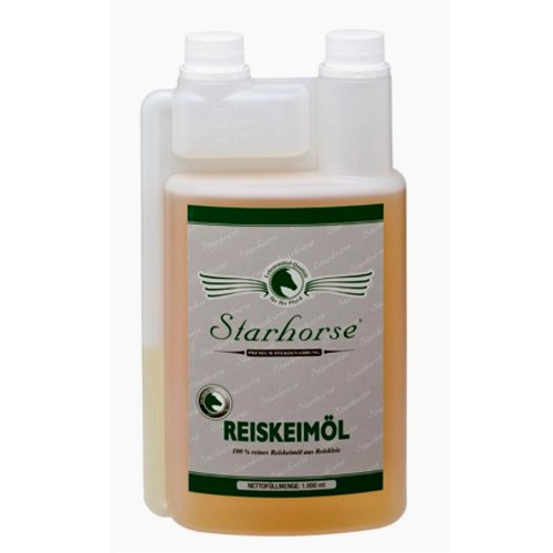 Starhorse Reiskeimöl für Pferde 1 Liter Dosierflasche