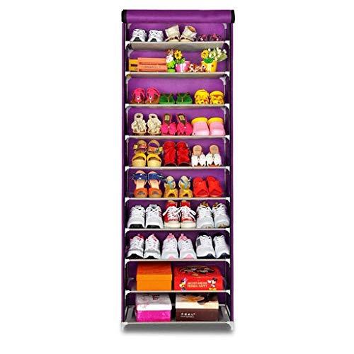 Diaod Multifuncional Rack de Almacenamiento de Calzado, de 10 Capas de Zapatos Simple Gabinete, Creativa a Prueba de Polvo Zapatero Zapatero compartida