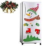 Snowman Refrigerator Magnets Set, Christmas Decorations Self-adhensive Refrigerator Magnets Stickers Kitchen Decor Indoors for Fridge, Dishwasher, Metal Door, Garage, Office Cabinets
