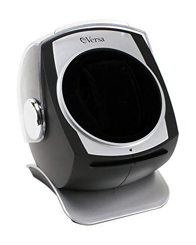 [Newly Upgraded] Versa Automatic Single Watch Winder with Sliding Cover (Black)