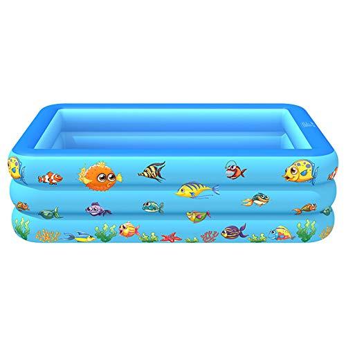Redsa Piscina inflable rectangular, piscina infantil, piscinas sobre el suelo, al aire libre, jardín, patio trasero, fiesta de agua de verano, azul