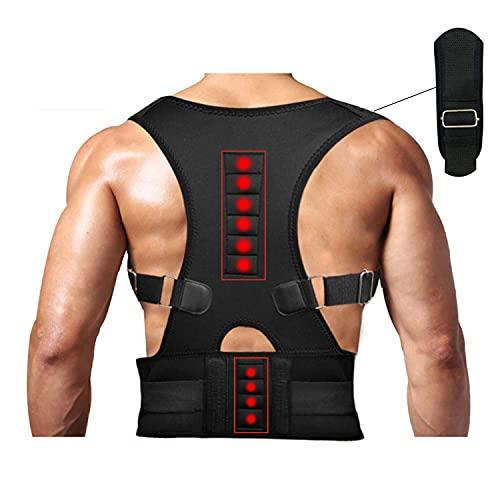 Magnetic Therapy Posture Support Back Brace -FDA Approved Medical Grade Adjustable Posture Corrector Brace Shoulder Back Support Belt- Relieves Neck, Back and Spine Pain (XL)