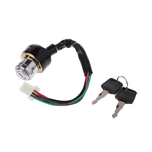 qiuxiaoaa Interruptor de Llave de Encendido Quad Chino ATV Redcat 50 90110 50cc 90cc 110cc 4 Wheeler Interruptor de Arranque de Motocicleta