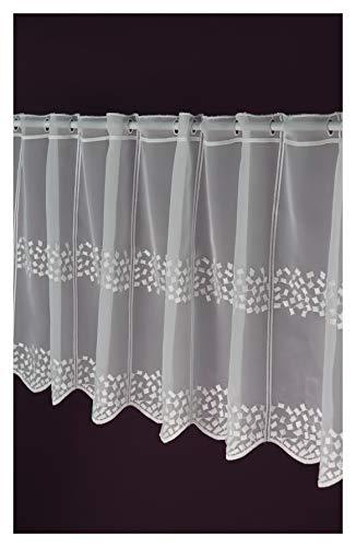 Cortina de láminas a medida, cortina bistró, altura de 45 cm, ancho de la cortina a elegir en 10 pasos