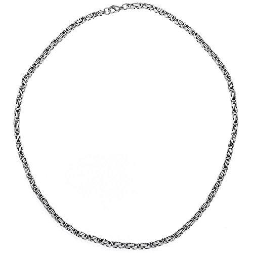 4,5mm Königskette Halskette Collier Halsschmuck Edelstahl Unisex 50cm